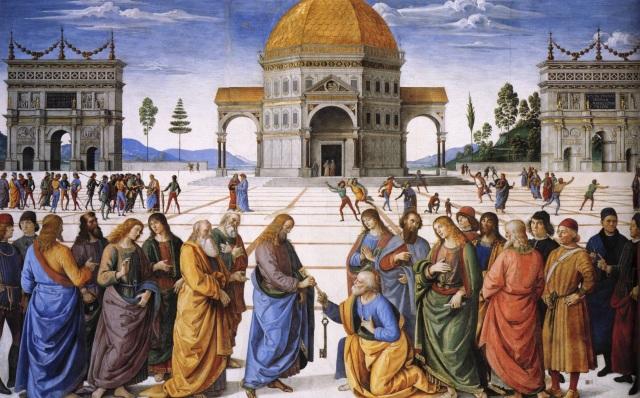 pietro-perugino---entrega-de-las-llaves-a-san-pedro-capilla-sixtina-roma-1481-82